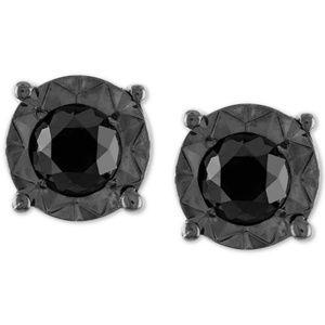 Jewelry - Sterling Silver Black Diamond Stud Earrings 1/4 ct